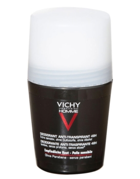 Vichy Linea Homme Deo Deodorante Uomo Roll-on 48h Pelle Sensibile 50 ml